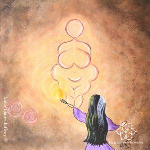 The Enlightened Goddess tableau par AC JOFFROY